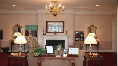 Lobby at Woody Funeral Home-Atlee Chapel