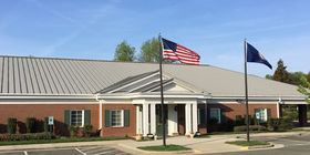 Front exterior building at Woody Funeral Home-Atlee Chapel