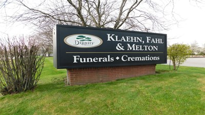 Signage at Klaehn, Fahl, Melton Funeral Home