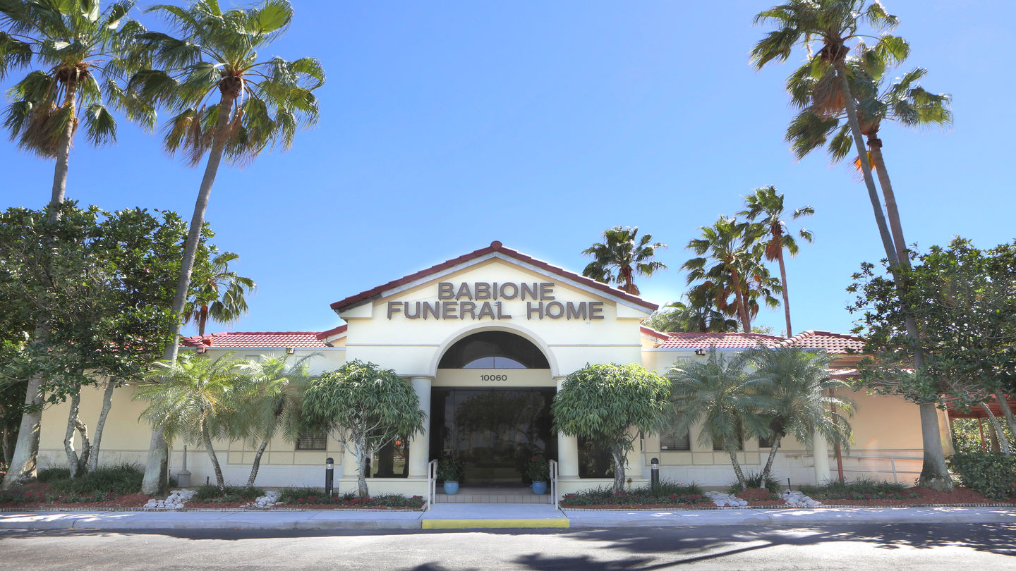 Front exterior building at Babione Funeral Home