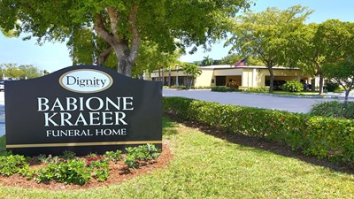 Signage at Babione - Kraeer Funeral Home and Cremation Center