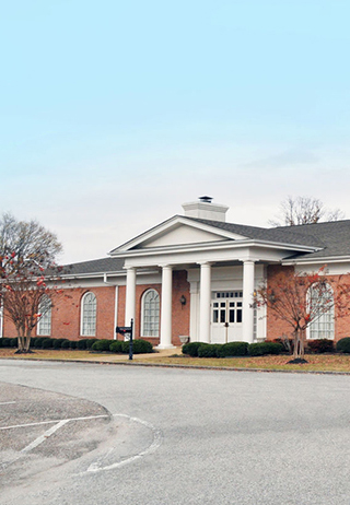 Front exterior building at George A. Smith & Sons Funeral Home