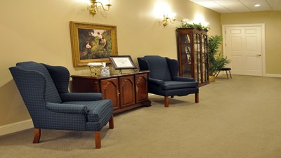Sitting area at Brown Funeral Home