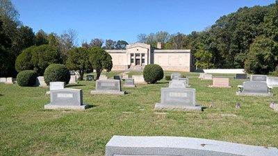 Cemetery grounds at Forest Lawn West Cemetery