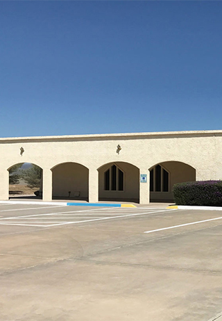 Front exterior building at Dimond & Sons Valley View Funeral Home
