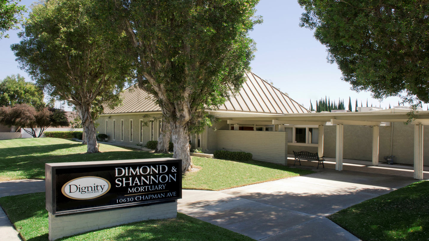 Front exterior building at Dimond & Shannon Mortuary