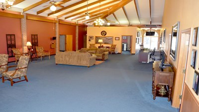 Lobby at Hargrave Funeral Home