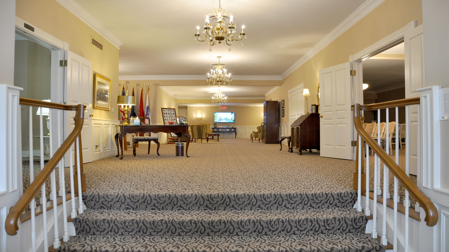 Lobby at Hill Funeral Home