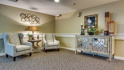Sitting area at Baggerley Funeral Home