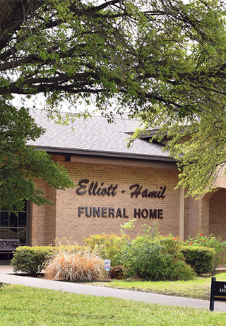 Front exterior at Elliott-Hamil Funeral Home