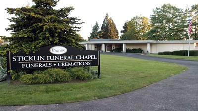 Signage at Sticklin Funeral Chapel