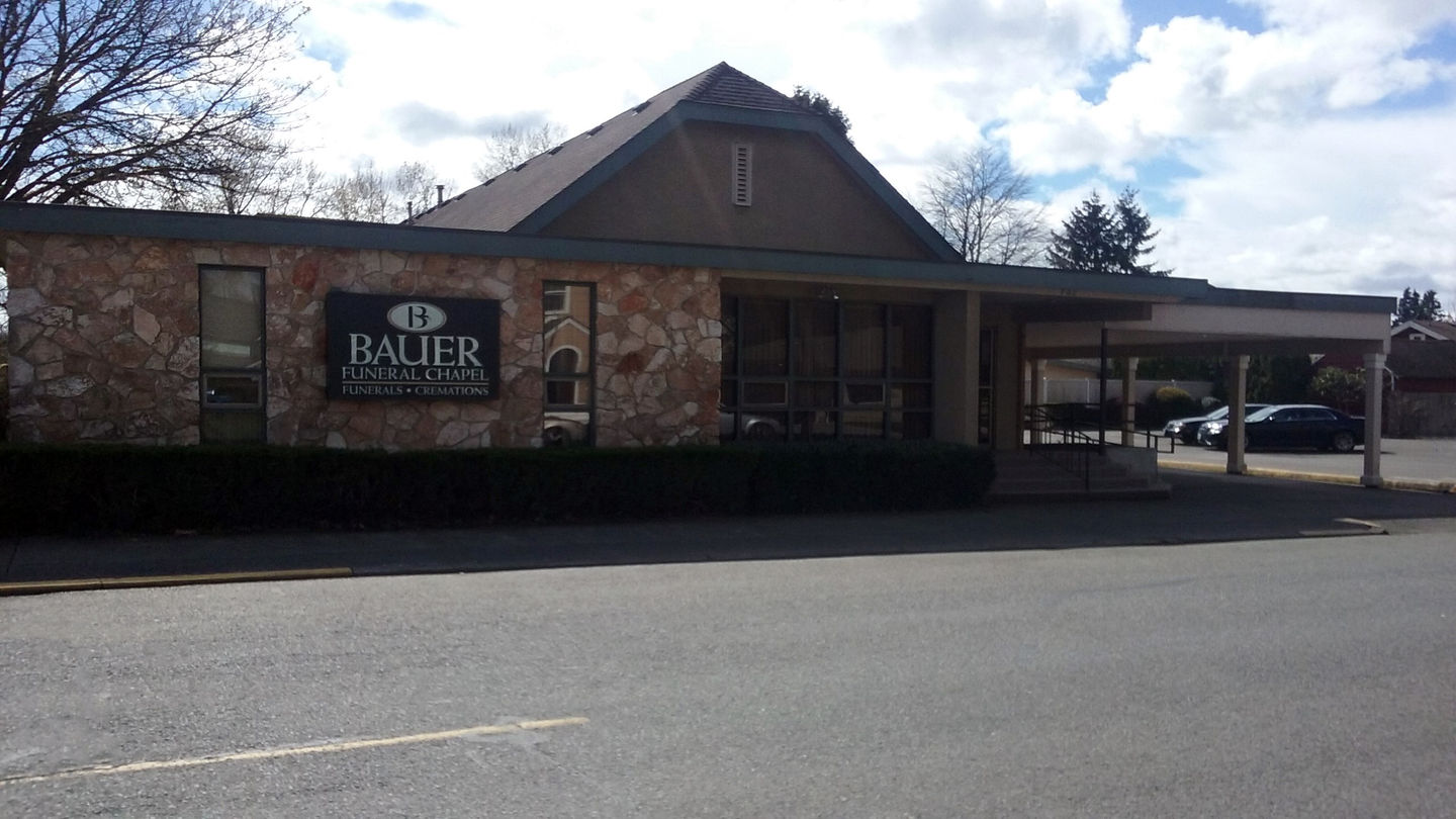 Front exterior building at Bauer Funeral Chapel