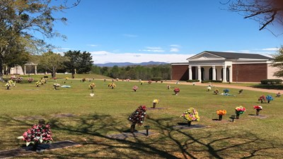 Cemetery grounds at Hillcrest Memorial Park