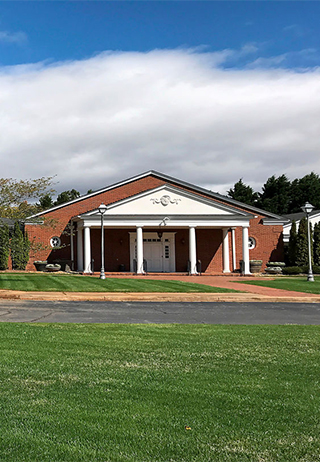 Front exterior building at Dillard Memorial Funeral Home