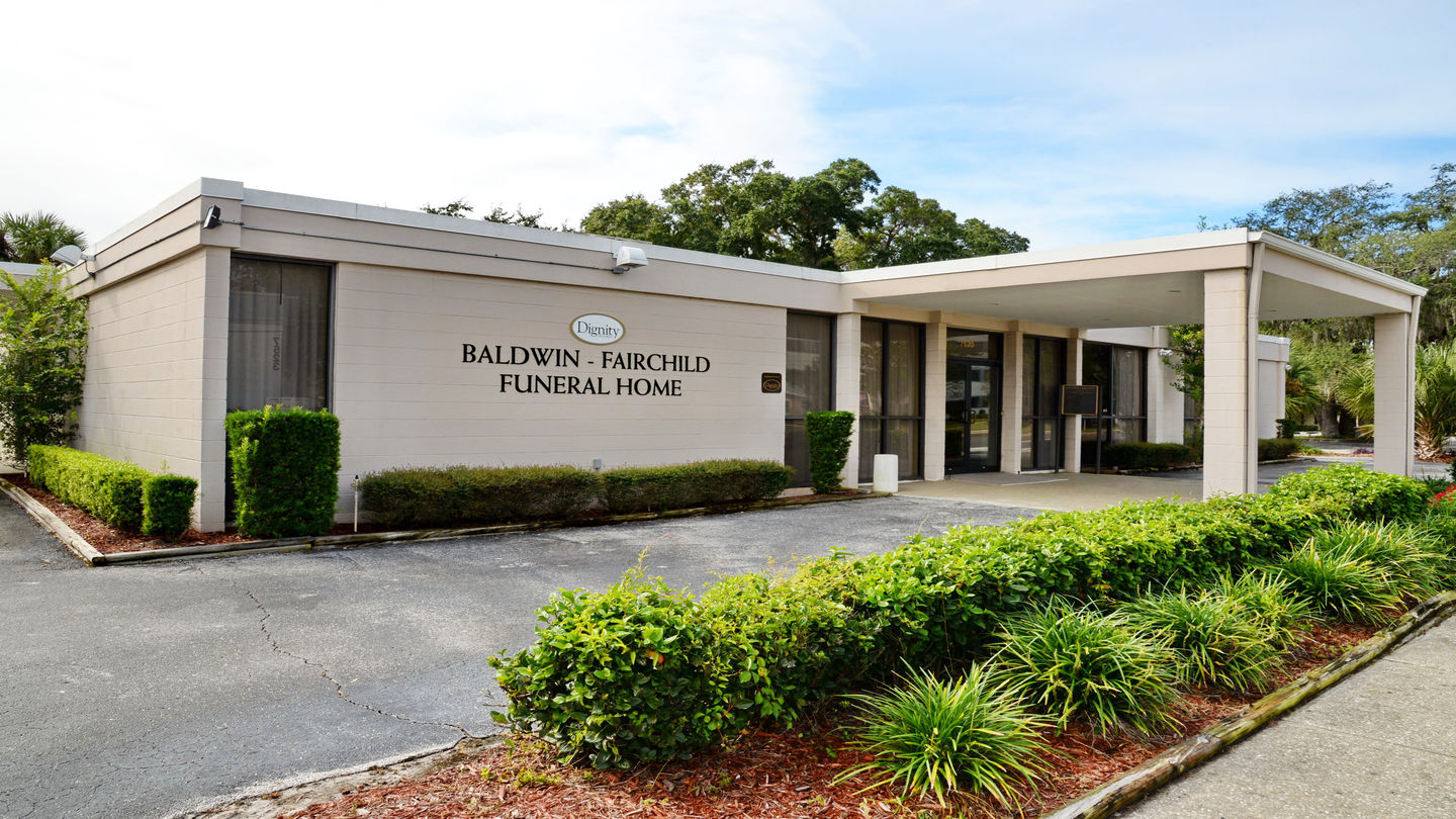 Front exterior building at Baldwin Fairchild Funeral Home