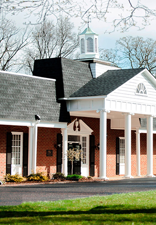 Front exterior building at Bunch-Johnson Funeral Home