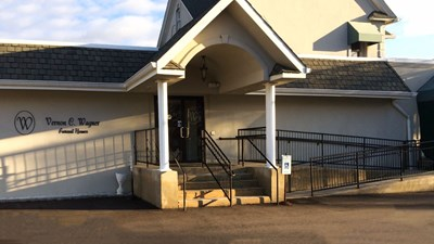 Front exterior building at Vernon C. Wagner Funeral Homes