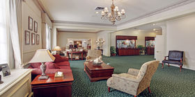 Lobby at Griffin Leggett Healey & Roth Funeral Home