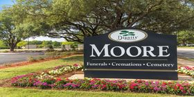 Signage at Moore Funeral Home