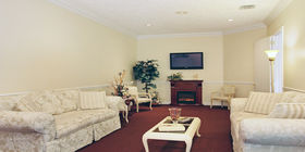 Sitting area at Aycock Funeral Home Young & Prill Chapel