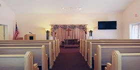Chapel at Aycock Funeral Home Young & Prill Chapel