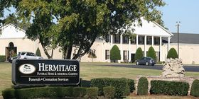 Front exterior at Hermitage Funeral Home & Memorial Gardens