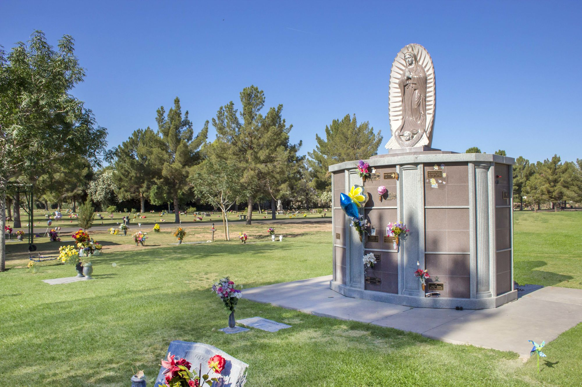 Our Lady of Guadalupe Columbarium at Resthaven / Carr-Tenney Mortuary & Memorial Gardens.
