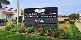 Signage at Malec & Sons Funeral Home