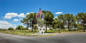 Veterans memorial at South Lawn Cemetery.