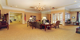 Lobby at Chapel Hill Gardens West Funeral Home