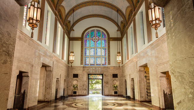 Grand Foyer of Hillcrest Mausoleum