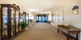 Lobby at Harry J Will Funeral Homes
