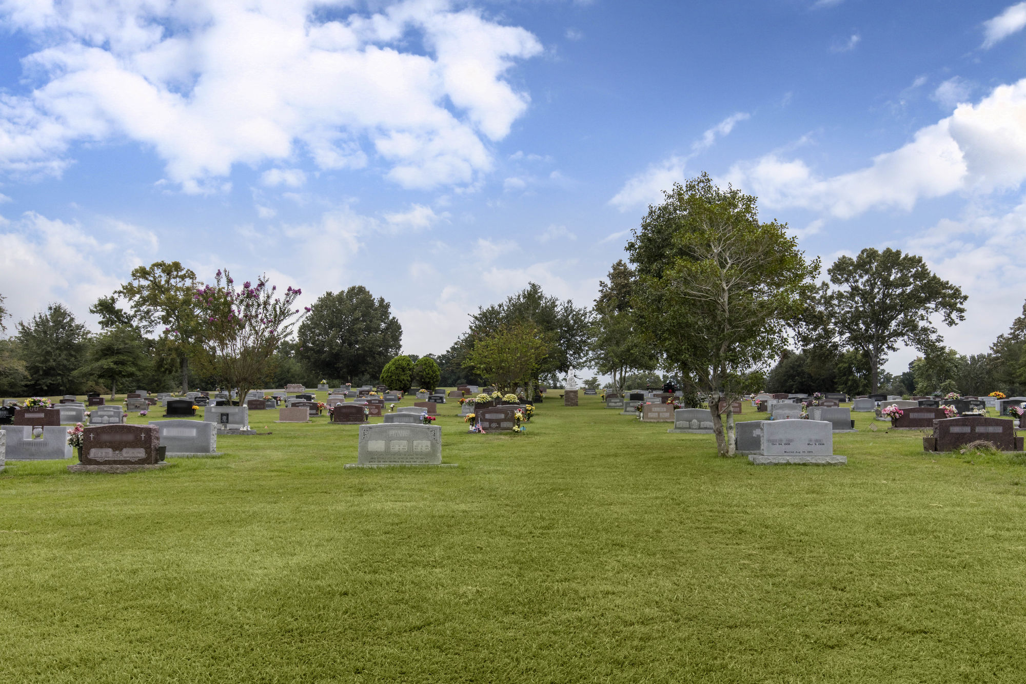 Cemetery grounds at Rest Hills Memorial Park