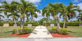 Cemetery grounds at IJ Morris at Star of David of the Palm Beaches
