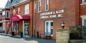 Signage at Lanterman & Allen Funeral Home Inc.