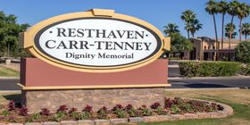 Signage at Resthaven / Carr-Tenney Mortuary & Memorial Gardens