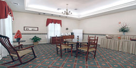 Reception room at Clore-English Funeral Home