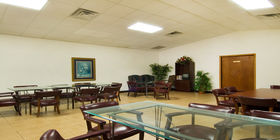 Reception room at Funeraria Del Angel Trevino Funeral Home