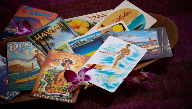 Various travel pamphlets and brochures for Hawaii.