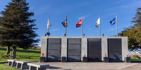 Veterans section at Eternal Valley Memorial Park