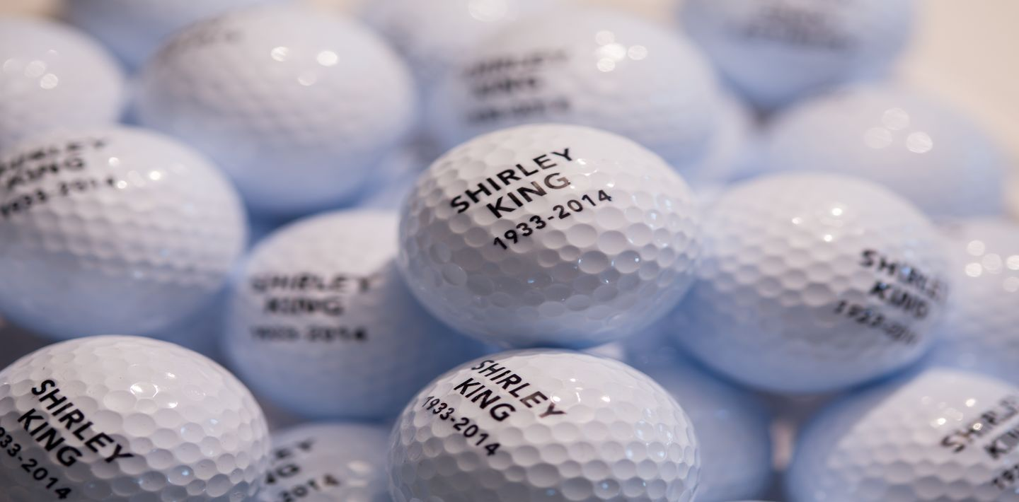 Golf ball mementos