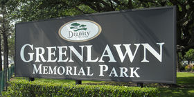 Signage at Greenlawn Memorial Park