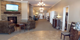 Lobby at Wood-Kortright-Borkoski Funeral Home