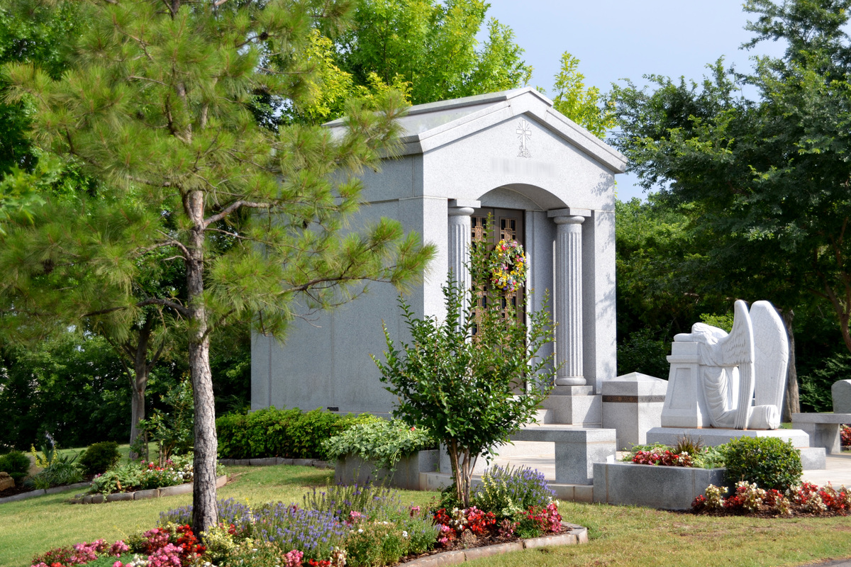 Private mausoleum at Rose Hill Burial Park
