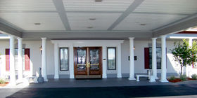 Entrance at Edo Miller and Sons Funeral Home