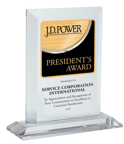 J.D. Power customer service recognition trophy with transparent background.   Translation needed