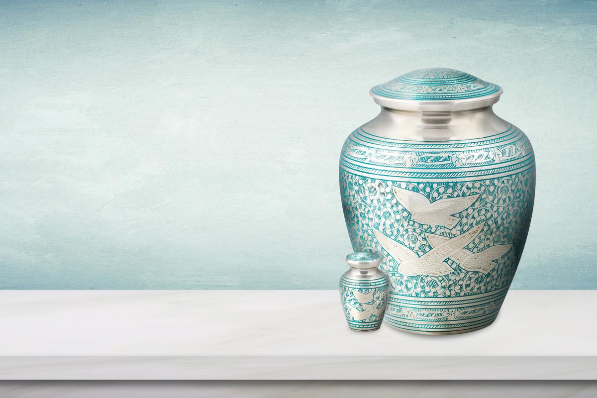 urnas de mascotas para cenizas de perros urnas de cremaci/ón grandes para cenizas de mascotas Urna de cremaci/ón azul para cenizas humanas una urna perfecta para regalo de urna funeraria