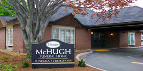 Front exterior at McHugh Funeral Home