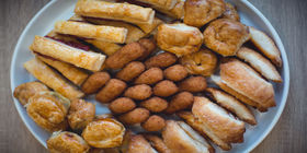 Sample catered assortment provided by Vicky Bakery