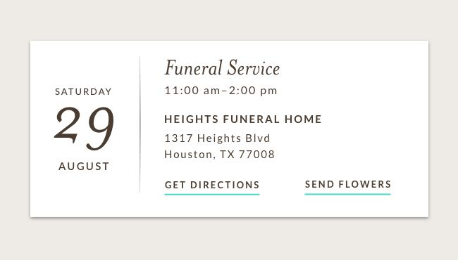 Obituaries give visitation, funeral and memorial details